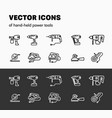 linear graphics hend-held power tools isolated vector image