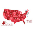 map of the usa vector image vector image