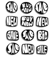 marketing sale slogan button collection over white vector image
