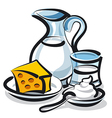 milk products vector image