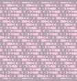 minimalistic hearts pattern background vintage vector image