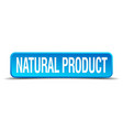 Natural product blue 3d realistic square isolated