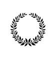 ornate victory wreath symbol black laurel symbol vector image vector image