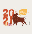 ox is a symbol chinese new year vector image