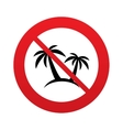 Palm Tree sign icon Travel trip symbol