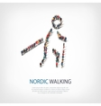 people sports nordic walking vector image vector image