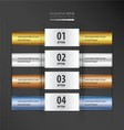 Rectangle banner gold bronze silver blue gradient vector image