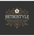 Retro vintage ornamental logo calligraphic vector image vector image