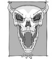 screaming skull vector image vector image