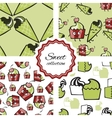 Seamless pattern with hand drawn ice cream or vector image vector image