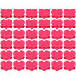 seamless stickers hearts in tape on valentine s vector image vector image