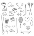 sports equipment digital stamps vector image