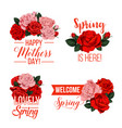 springtime or mother day floral icons vector image vector image
