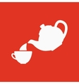 The teapot and cup icon Tea symbol Flat vector image