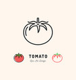 tomato icon vegetables logo thin line art vector image vector image