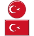 Turkish round and square icon flag vector image