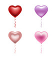 valentines day balloons isolated heart shaped ba vector image vector image