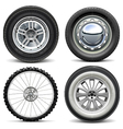 Vehicle Wheels vector image vector image