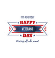 Veterans day abstract background vector image