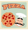 Vintage Pizza Postcard vector image vector image