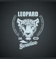 vintage retro logo with leopard vector image vector image