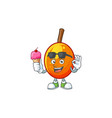 with ice cream fresh jocote character mascot in vector image vector image