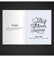 Card of Best friends forever vector image