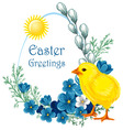 Easter vintage background vector image