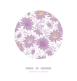 Purple shadow florals circle decor pattern vector image