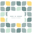 Abstract gray yellow rounded squares frame vector image
