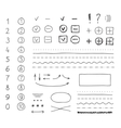marker elements hand drawing vector image