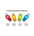 3d perspective infographic presentation vector image vector image