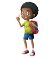 A Black schoolboy vector image vector image