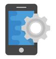 app development flat icon vector image vector image