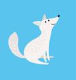 arctic fox snow fox or polar wolf isolated vector image vector image