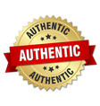 authentic 3d gold badge with red ribbon