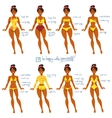 Body Types and Swimwear vector image vector image