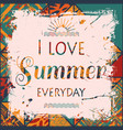 boho summer background vector image vector image