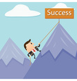 Business Mountain Success vector image vector image