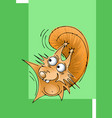 character a little funny squirrel vector image