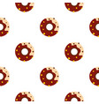 chocolate donut pattern seamless vector image vector image