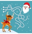 Christmas maze game vector image vector image