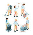 cleaning service industrial clean machines dishes vector image vector image