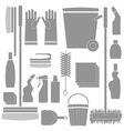 cleaning tools vector image