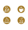 coffee drink cup logo template icon design vector image vector image