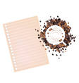 Coffee Stains of Coffee Bean with A Blank Paper vector image