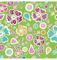 Colorful floral seamless pattern background vector image vector image