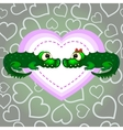 Crocodiles In Love Valentines Day vector image vector image