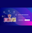 data processing smm manager collects data vector image
