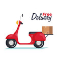 delivery motorcycle isolated icon vector image